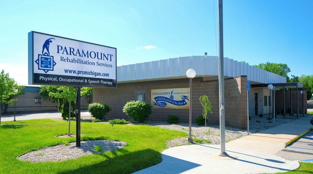 Exterior of Paramount building in Saginaw