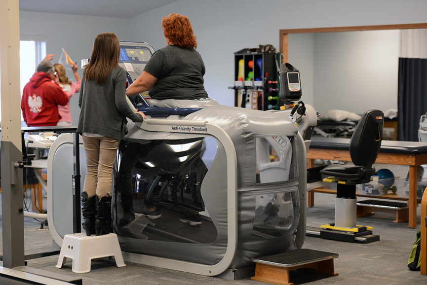 Use of Anti-Gravity treadmill