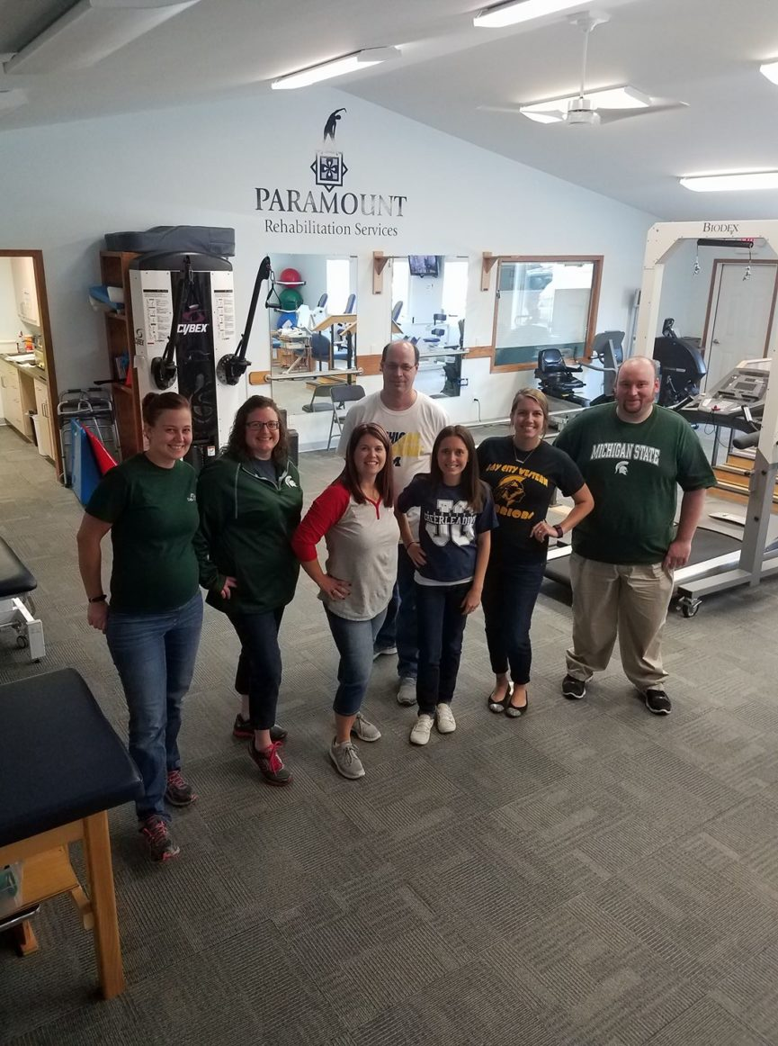 Staff on School Color Day