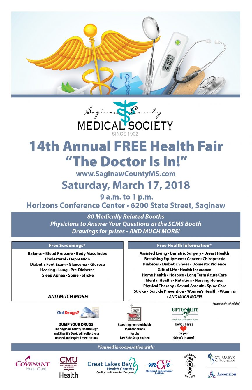 Saginaw County Medical Society Health Fair   Paramount ...
